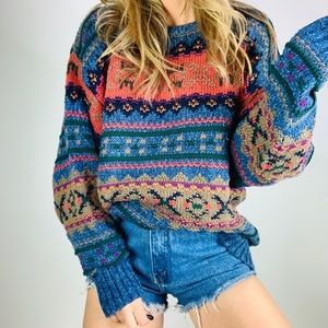 Vintage Eddie Bauer multicolor oversized sweater